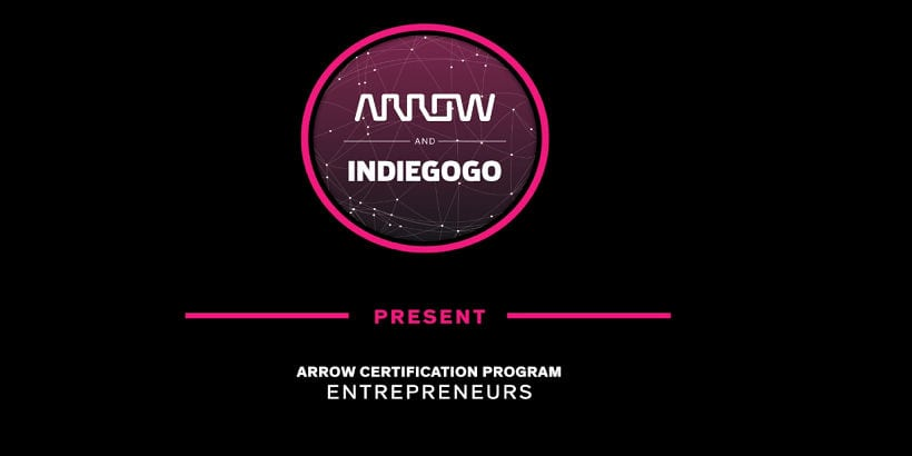 Arrow certified indiegogo logo